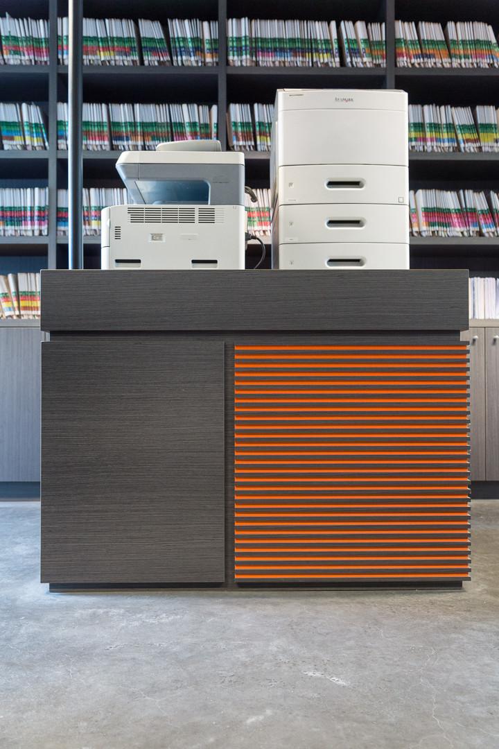 Kolum bureelkast en printerkast